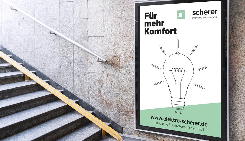 Kunde: Elektro Scherer Ludwigshafen. GREENTONIC ist eine nachhaltige Agentur für Consulting und Design.GREENTONIC steht für klares, konzeptionelles Design, das in Erinnerung bleibt.